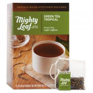 Mighty Leaf Tea Whole Leaf Tea Pouches, Green Tea Tropical, 15/Box PEE510138 510138