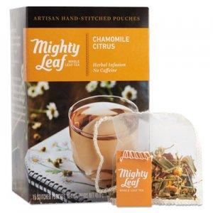 Mighty Leaf Tea Whole Leaf Tea Pouches, Chamomile Citrus, 15/Box PEE510136 510136