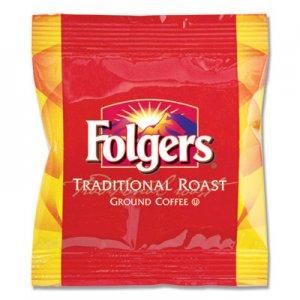 Folgers Ground Coffee Fraction Packs, Traditional Roast, 2oz, 42/Carton FOL63006 2550063006
