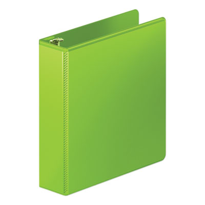 "Wilson Jones Heavy-Duty Round Ring View Binder w/Extra-Durable Hinge, 2"" Cap, Chartreuse WLJ36344376 W363-44-376PP"