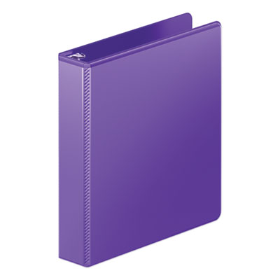 "Wilson Jones Heavy-Duty Round Ring View Binder w/Extra-Durable Hinge, 1 1/2"" Cap, Purple WLJ36334267 W363-34"