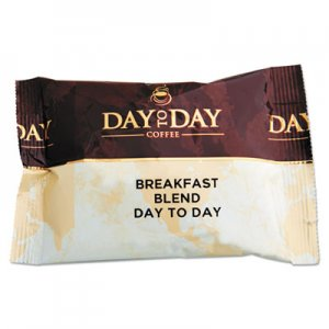 Day to Day Coffee 100% Pure Coffee, Breakfast Blend, 1.5 oz Pack, 42 Packs/Carton PCO23003 23003