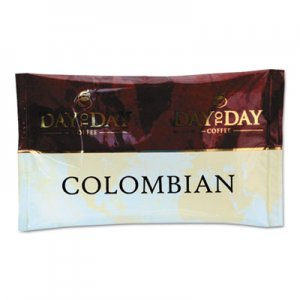 Day to Day Coffee 100% Pure Coffee, Colombian Blend, 1.5 oz Pack, 42 Packs/Carton PCO23001