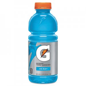 Gatorade G-Series Perform 02 Thirst Quencher, Cool Blue, 20 oz Bottle, 24/Carton QKR24812 052000324815