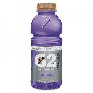 Gatorade G2 Perform 02 Low-Calorie Thirst Quencher, Grape, 20 oz Bottle, 24/Carton QKR04060 052000204063