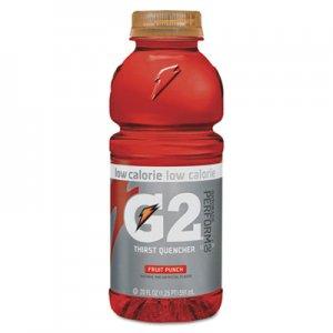 Gatorade G2 Perform 02 Low-Calorie Thirst Quencher, Fruit Punch, 20 oz Bottle, 24/Carton QKR04053 052000204056