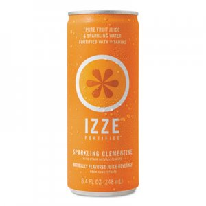 IZZE Fortified Sparkling Juice, Clementine, 8.4 oz Can, 24/Carton QKR15054 836093011056