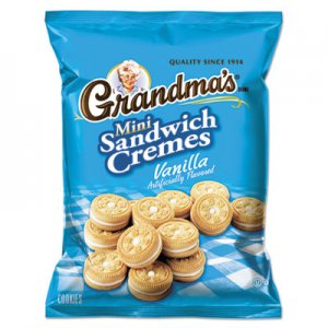 Grandma's Mini Vanilla Creme Sandwich Cookies, 3.71 oz, 24/Carton LAY45095 028400450959