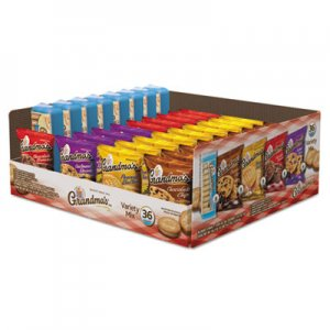 Grandma's Cookies Variety Tray 36 Count, 2.5 oz Packs LAY14867 14867