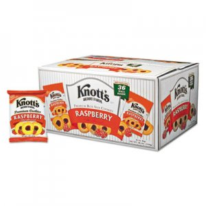 Knott's Berry Farm Premium Berry Jam Shortbread Cookies, Raspberry, 2 oz Pack, 36/Carton BSC59636 BIS59636