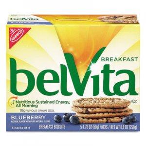 Nabisco belVita Breakfast Biscuits, Blueberry, 1.76 oz Pack, 64/Carton CDB02908 00 44000 02908 00