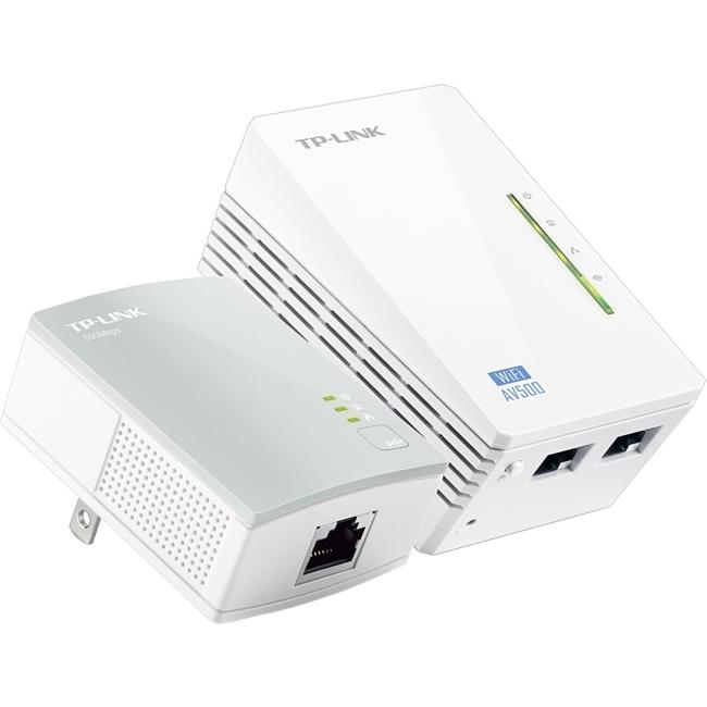 TP-LINK 300Mbps AV500 WiFi Powerline Extender Starter Kit TL-WPA4220KIT TL-WPA4220