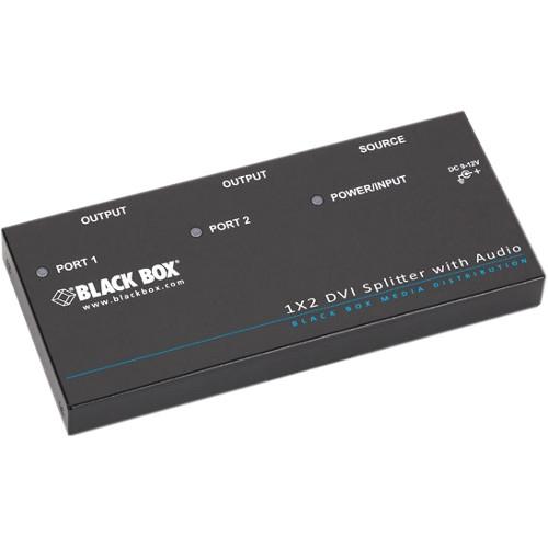 Black Box DVI-D Splitter with Audio and HDCP, 1 x 2 AVSP-DVI1X2