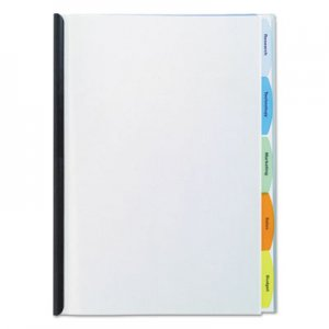 GBC Polypropylene View-Tab Report Cover, Binding Bar, Letter, Holds 20 Pages, Clear GBC55766 W55766D