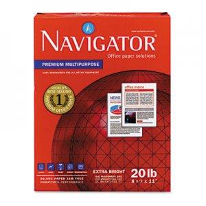 Navigator Premium Multipurpose Paper, 97 Brightness, 20lb, 8-1/2x11, White, 5000/Carton SNANMP1120 NMP1120