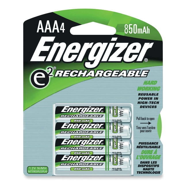 Energizer AAA Size Nickel Metal Hydride General Purpose Battery NH12BP-4