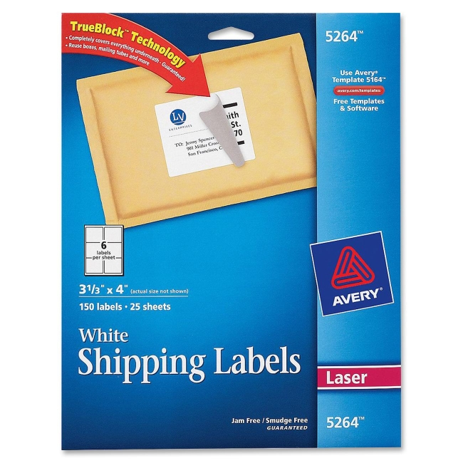 avery easy peel mailing label 5165