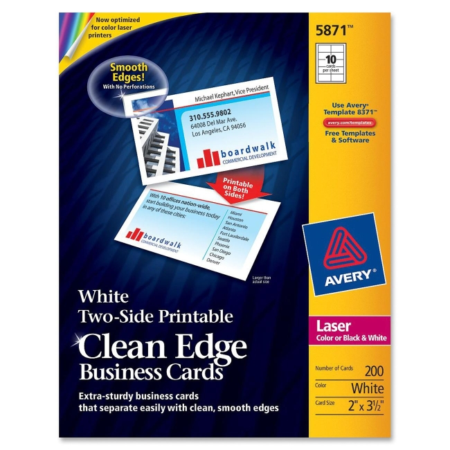 Avery Clean Edge Business Card 5871