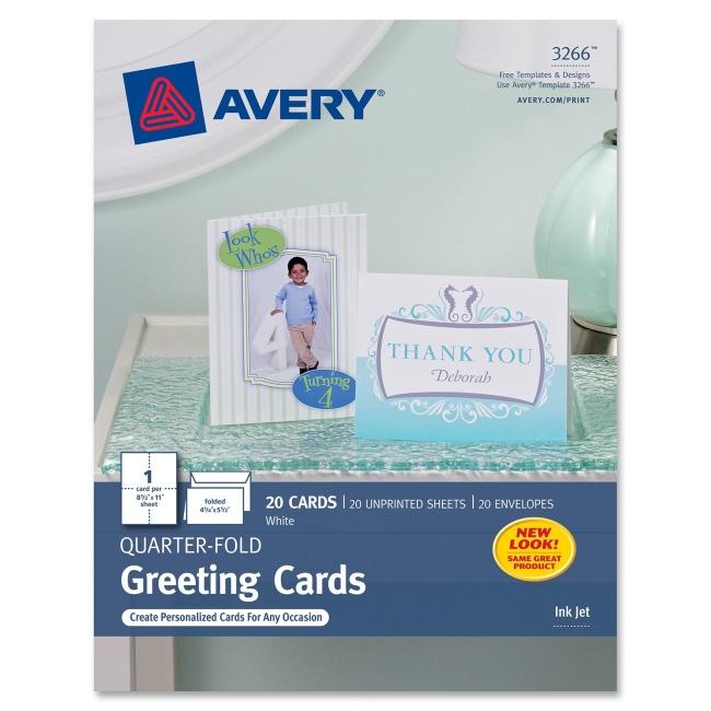 Avery Quarter Fold Card 3266