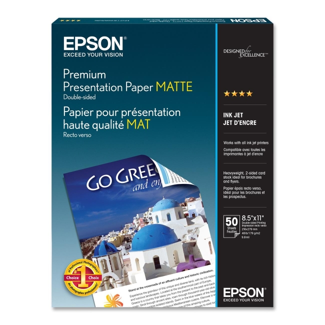 Epson Double-Sided Matte Presentation Paper S041568