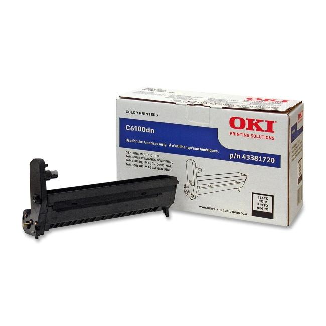 Oki Black Image Drum Kit For C6100 Series Printers 43381720