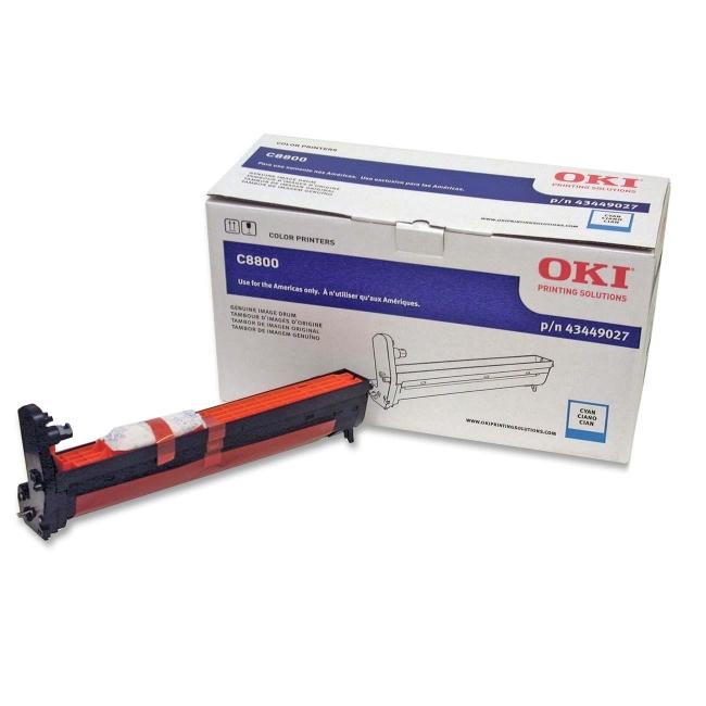 Oki Cyan Image Drum For C8800 Series Printers 43449027
