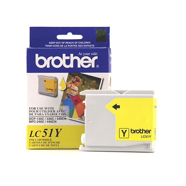 Brother Yellow Inkjet Cartridge LC51Y