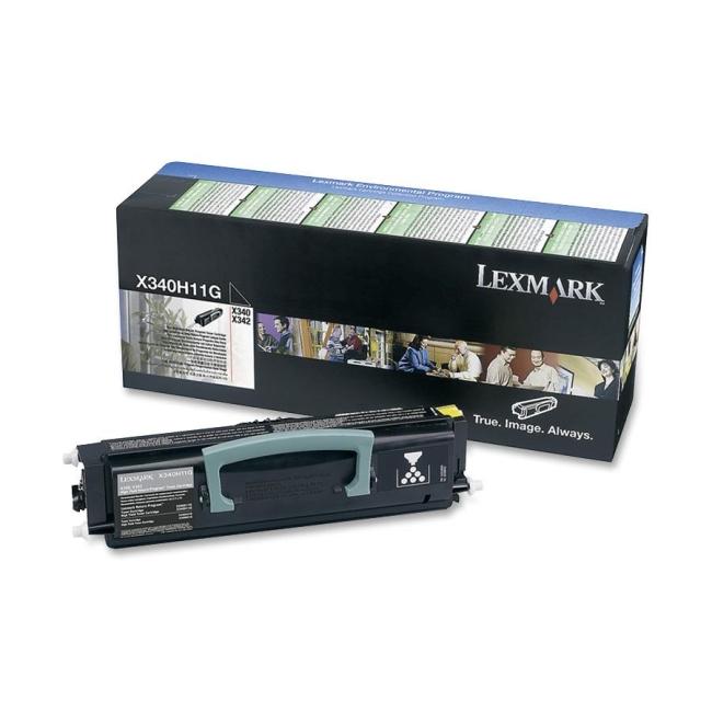 Lexmark Black High Yield Return Program Toner Cartridge X340H11G