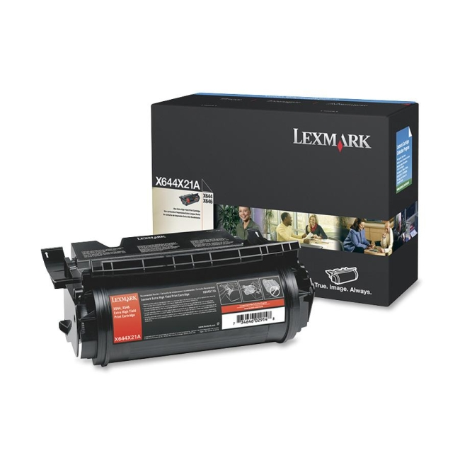 Lexmark Black Extra High Yield Toner Cartridge X644X21A