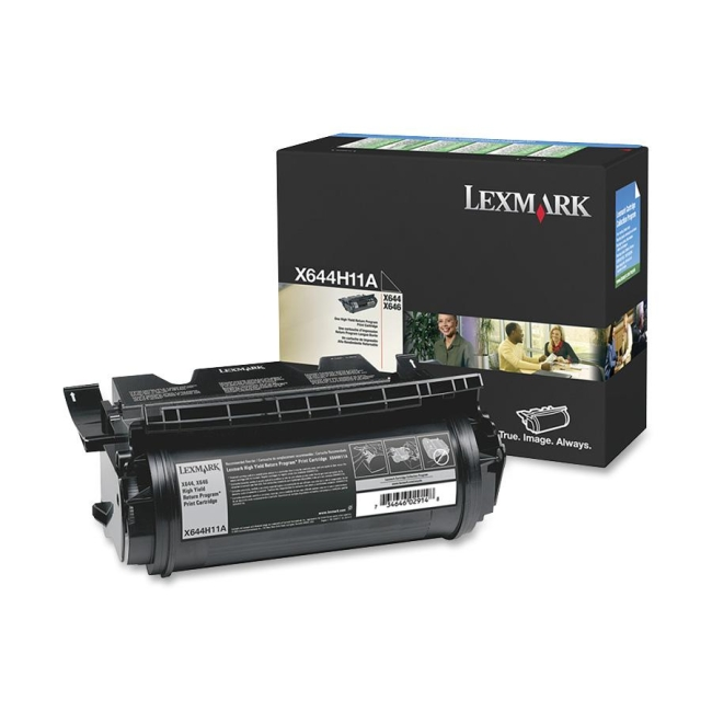 Lexmark Black High Yield Return Program Toner Cartridge X644H11A