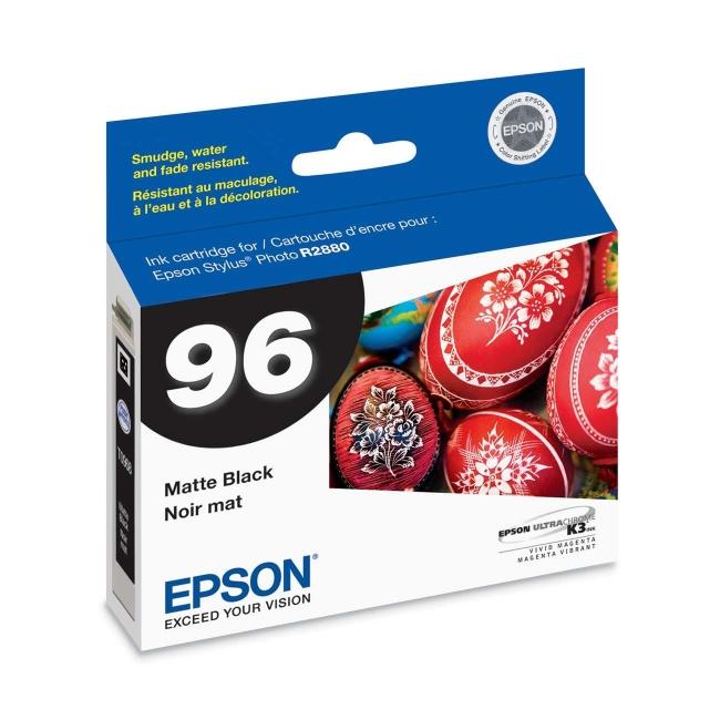 Epson Matte Black Ink Cartridge T096820 No. 96