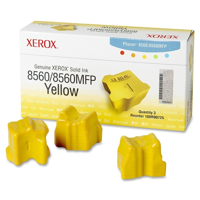 Xerox Yellow Solid Ink Sticks 108R00725