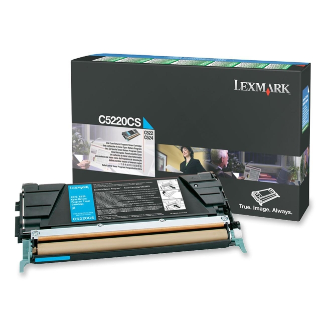 Lexmark Cyan Return Program Toner Cartridge C5220CS
