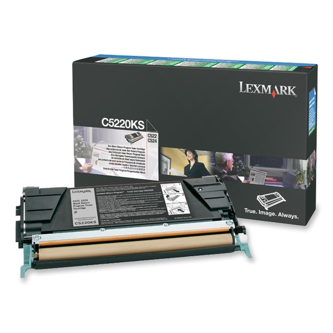 Lexmark Black Return Program Toner Cartridge C5220KS