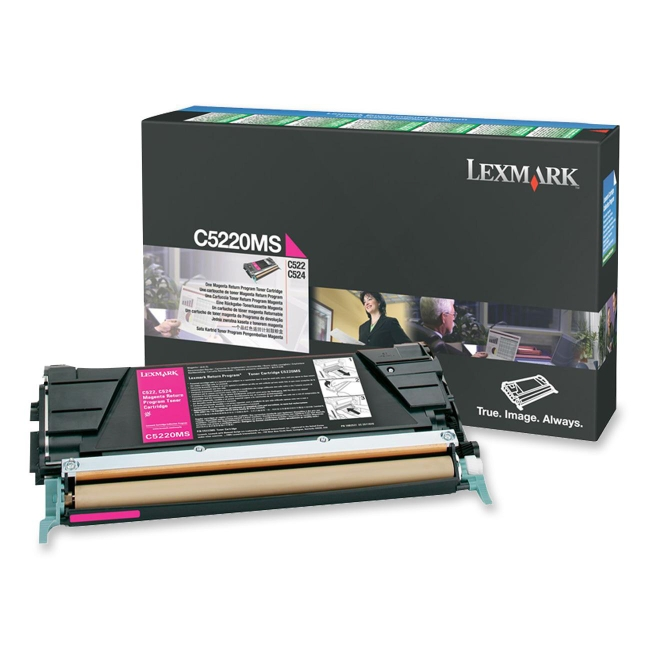 Lexmark Magenta Return Program Toner Cartridge C5220MS
