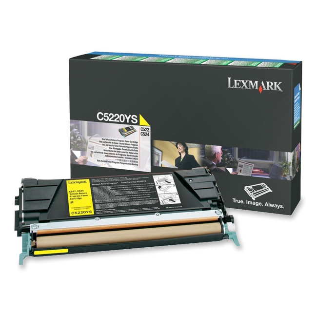 Lexmark Yellow Return Program Toner Cartridge C5220YS