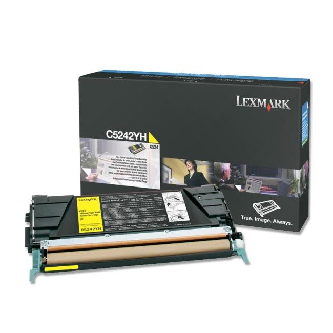 Lexmark Yellow High Yield Toner Cartridge C5242YH