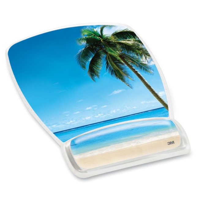 3M Beach Design Gel Mouse Pad Wrist Rest MW308BH