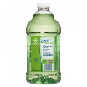 Green Works All-Purpose and Multi-Surface Cleaner, Original, 64oz Refill CLO00457 00457