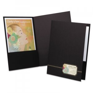 Oxford Monogram Series Business Portfolio, Premium Cover Stock, Black/Gold, 4/Pack OXF04161 04161EE