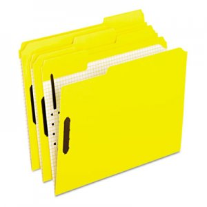 Pendaflex Colored Folders With Embossed Fasteners, 1/3 Cut, Letter, Yellow, 50/Box PFX21309 21309