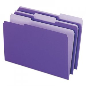 Pendaflex Interior File Folders, 1/3-Cut Tabs, Legal Size, Violet, 100/Box PFX435013VIO 4350 1/3 VIO