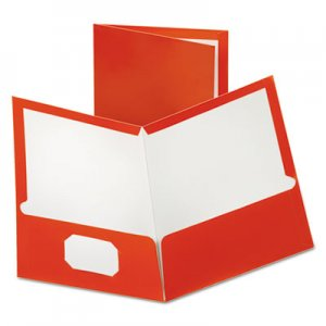 Oxford Two-Pocket Laminated Paper Folder, 100-Sheet Capacity, Metallic Copper OXF5049580 5049580