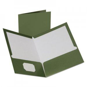 Oxford Two-Pocket Laminated Folder, 100-Sheet Capacity, Metallic Green OXF5049560 5049560