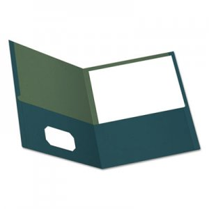 Oxford Earthwise by Oxford 100% Recycled Paper Twin-Pocket Portfolio, Blue OXF78502 78502