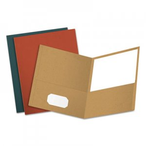 Oxford Earthwise by Oxford Recycled Paper Twin-Pocket Portfolio, Assorted Colors, 25/Box OXF78513 78513