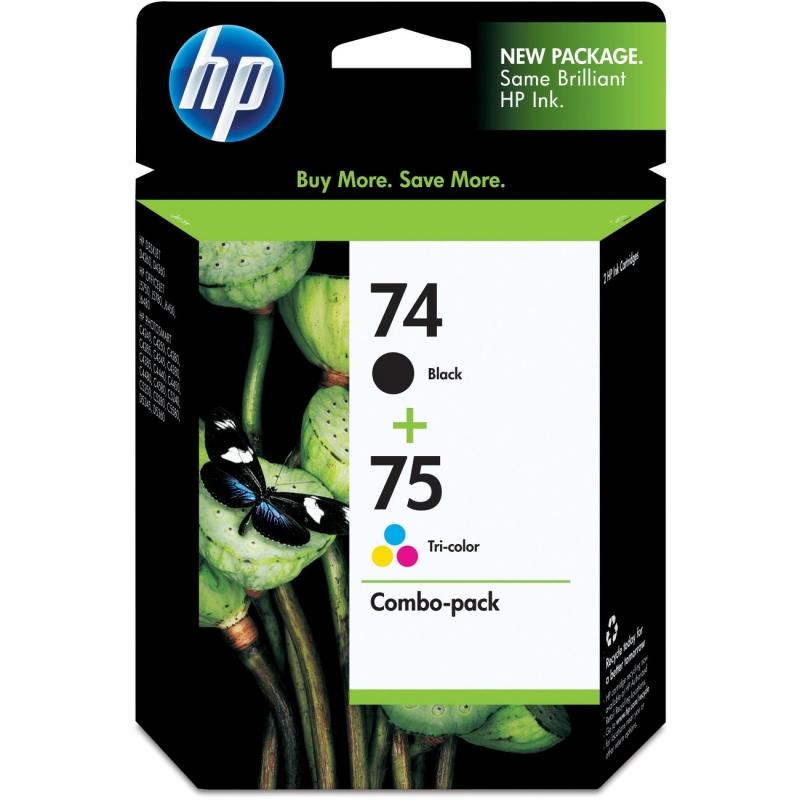 HP 74 Black/75 Tri-color 2-pack Original Ink Cartridges CC659FN HEWCC659FN 74/75