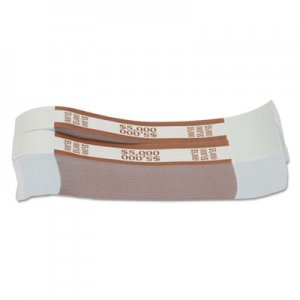 Pap-R Products Currency Straps, Brown, $5,000 in $50 Bills, 1000 Bands/Pack CTX405000 405000