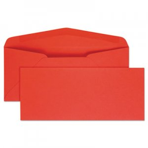 Quality Park Colored Envelope, #10, Bankers Flap, Gummed Closure, 4.13 x 9.5, Red, 25/Pack QUA11134