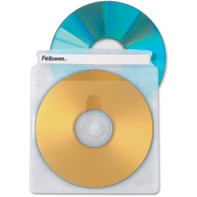 Fellowes Double-Sided CD/DVD Sleeves - 50 pack 90659